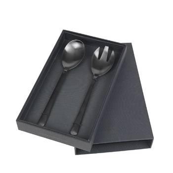 Набор ложек для салата Broste Copenhagen Hude из 2 предметов titanium mat black