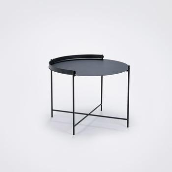 Уличный стол  Houe 10912 1212 Edge Tray table Diametr 62 cm black /black legs