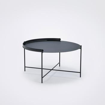 Уличный стол Houe 10913 1212 Edge Tray table Diametr 76 cm black /black legs