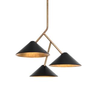 Подвесной светильник Konsthantverk  Grenverk 3 black