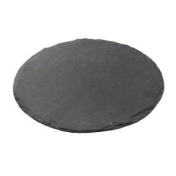 Подставка для тарелок из сланца Broste Copenhagen Slate L black