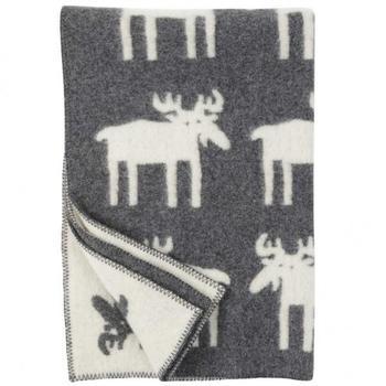 Плед Klippan Moose Grey