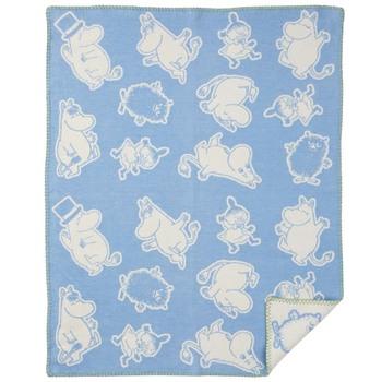 Плед Klippan Moomin blue