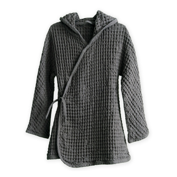 Халат The Organic Company Big Waffle Kids  Bathrobe Dark Grey
