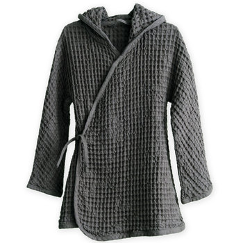 Халат The Organic Company Big Waffle Junior Bathrobe Dark Grey