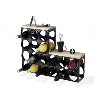 Винный шкаф Nuance Wine rack (состоит из: 2 элемента основание, деревянная накладка)