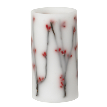 Декоративная светодиодная свеча Broste Copenhagen  Berries white\red