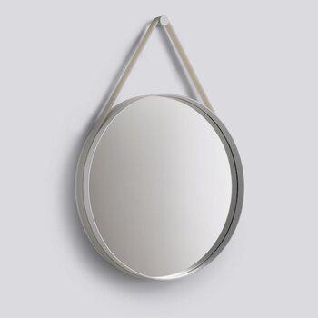 Настенное зеркало Hay Strap Mirror Ø70 GREY