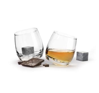 Набор для виски: 2 стакана и 2 камешка для охлаждения Sagaform Giftset Whiskey