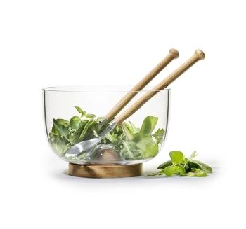 Набор: салатник со столовыми приборами Sagaform Giftset Oak