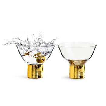 Набор бокалов для коктейля из 2 шт Sagaform Club, gold