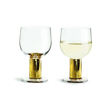 Набор бокалов для шампанского из 2 шт Sagaform Club, gold