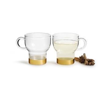 Чайная пара: 2 чашки Sagaform gold