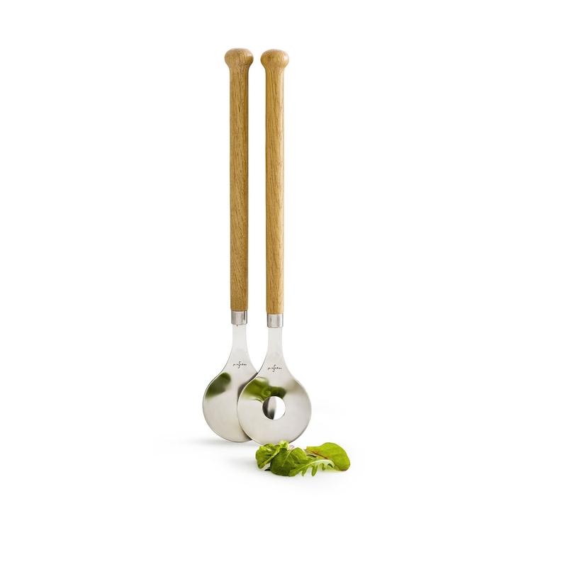 Набор ложек для салата (2 шт) Sagaform Oak. Изображение 1