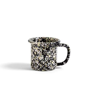 Кружка Enamel mug sprinkle, black
