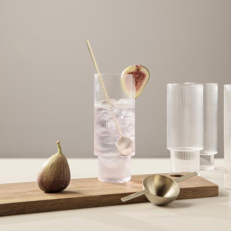 Стакан Ferm Living Ripple Long Drink glasses. Изображение 1