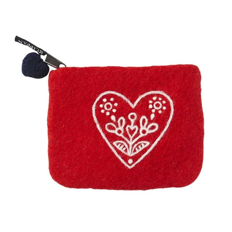 Кошелек Klippan  Heart & Flower red. Изображение 1