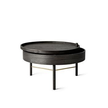 Столик Menu Turning Table, Black Ash/Brass