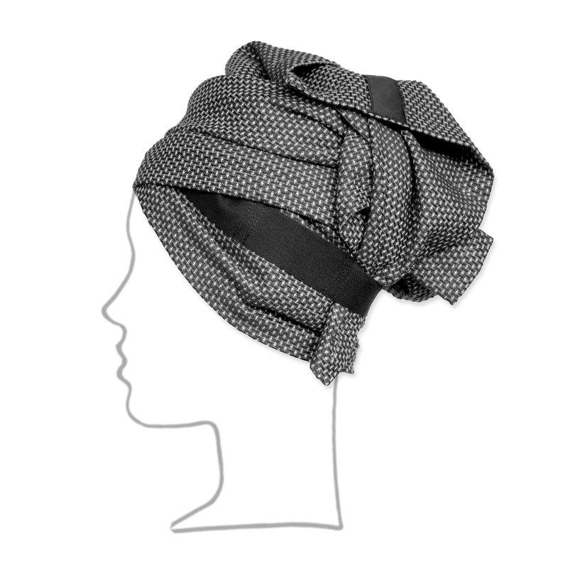 Полотенце для головы The Organic Company Hand Hair Towel Dark grey . Изображение 1