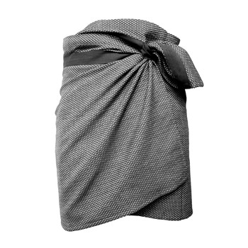 Полотенце The Organic Company Towel to wrap around you Dark grey