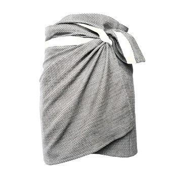 Полотенце The Organic Company Towel to wrap around you Light  grey