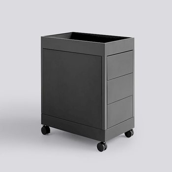 Мобильная тележка No trolley B 3 drawer and tray top Charcoal powder coated steel including lock