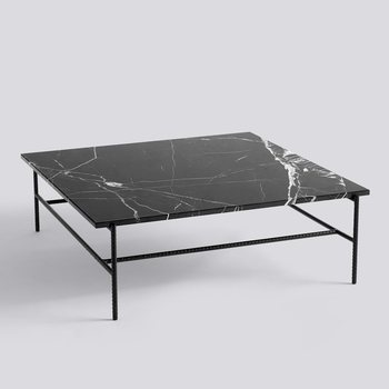 Кофейный столик HAY REBAR COFFEE TABLE / SOFT BLACK POWDER COATED STEEL MARBLE