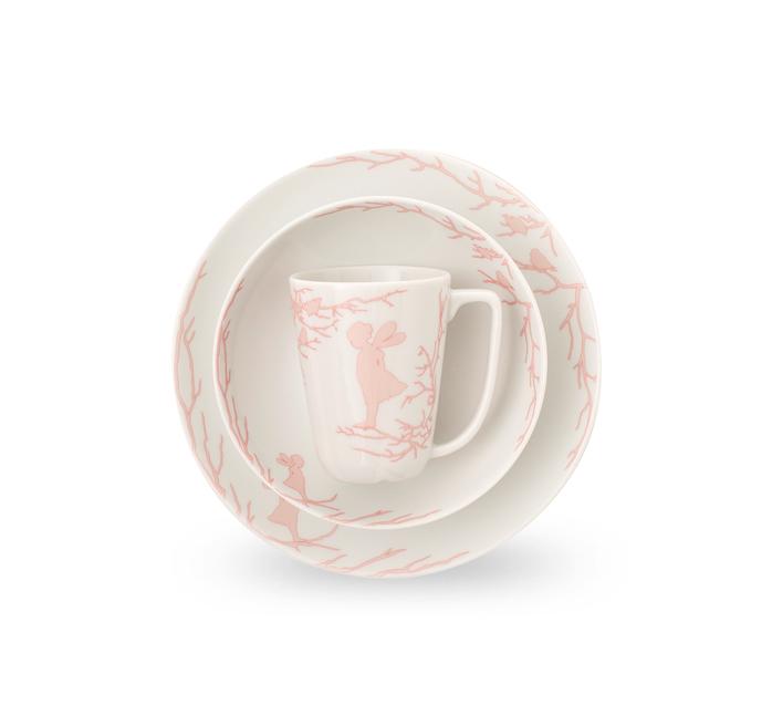 Набор из 2-х тарелок и чашки Wik & Walsoe Alv children set . Изображение 1