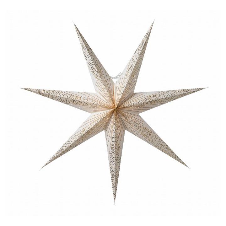 Новогоднее светодиодное украшение в виде звезды Watt & Veke Skina 80, white/gold. Изображение 1