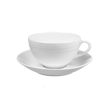 Чашка с блюдцем Design House Stockholm  Blond cup and saucer white\stripe