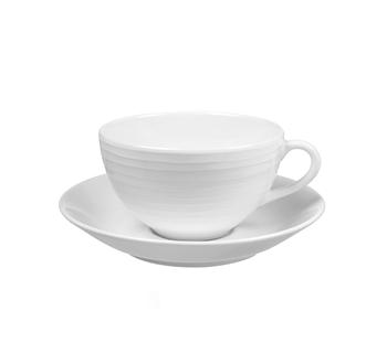 Чашка с блюдцем Design House Stockholm  Blond cup and saucer white\stripe