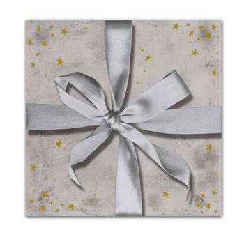 Набор трехслойных бумажных салфеток (20 шт.)  Broste Copenhagen Gift silver