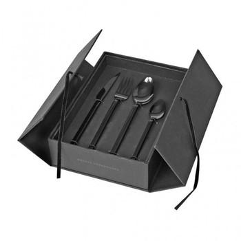 Набор столовых предметов Broste Copenhagen Tvis из 16 предметов titanium black