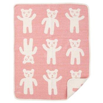 Плед Klippan Chenille Bruno pink\white