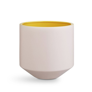 Кашпо Kähler Fiora flowerpot pink/yellow