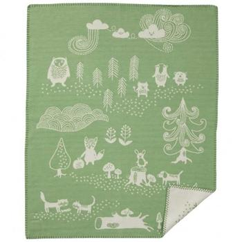 Плед Klippan Little bear green