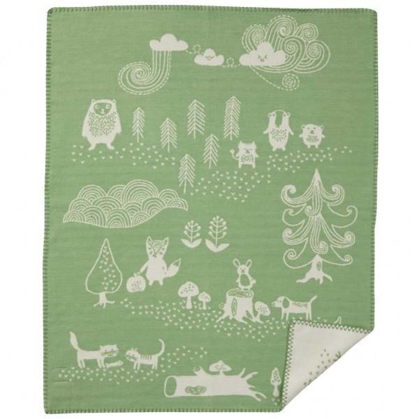 Плед Klippan Little bear green. Изображение 1