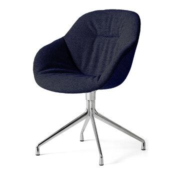 Кресло AAC121 Soft Chair Alu base in Flamiber Dark Blue J4