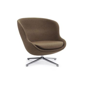 Кресло Normann Copenhagen Hyg Lounge Chair Low Swivel Aluminum Synergy