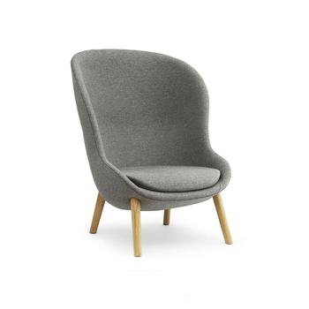 Кресло Normann Copenhagen Hyg Lounge Chair High Oak Main Line Flax