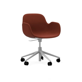 Кресло Normann Copenhagen Form Swivel Armchair with Castors Full Upholstery
