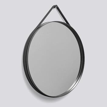 Настенное зеркало Hay Strap Mirror Ø70 ANTHRACITE