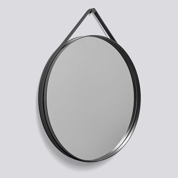 Настенное зеркало Hay Strap Mirror Ø70 ANTHRACITE. Изображение 1
