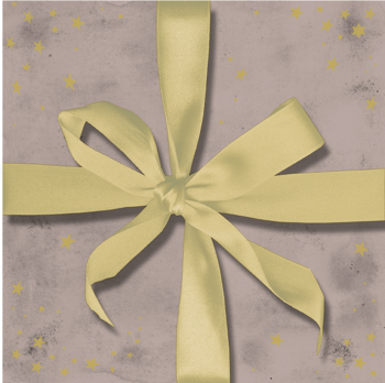 Набор трехслойных бумажных салфеток (20 шт.) Broste Copenhagen Gift fawn\gold
