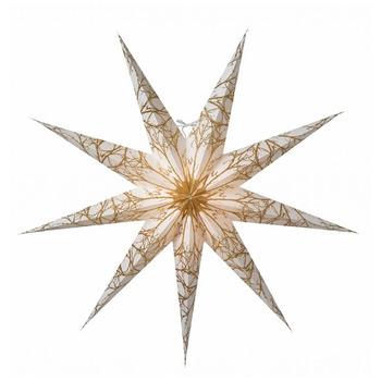 Новогоднее светодиодное  украшение в виде звезды Watt & Veke Iris 80, white/gold glitter