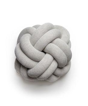 Подушка Design House Stockholm Knot Light grey