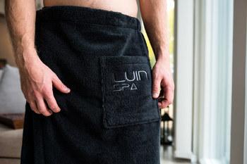 Килт для бани Luin spa Men's Wrap Towel Black