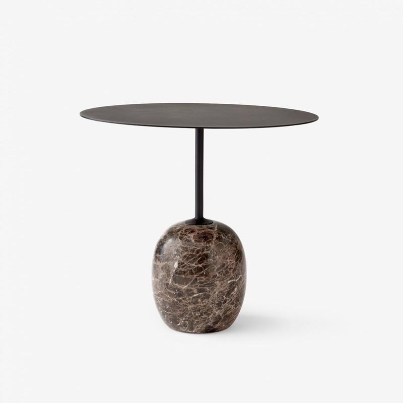 Стол &Tradition Lato Table LN9 black&dark marble. Изображение 1