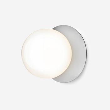 Настенный светильник NUURA LIILA 1 MEDIUM OPAL - WALL/CEILING Light Silver