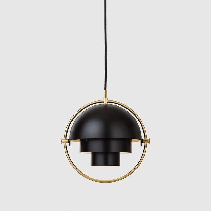 Подвесной светильник MULTI-LITE PENDANT small , BRASS BASE | Back Semi Matt . Изображение 1